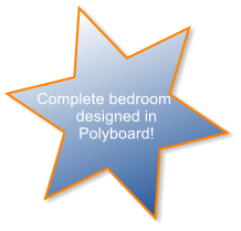 Complete bedroom designed in Polyboard!